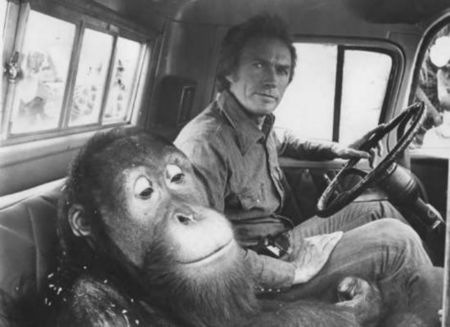 clyde and clint eastwood in truck